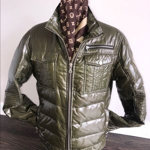 DOLCE & GABBANA QUILTED JACKET WITH LOGOED PLAQUE